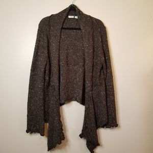 Cato Chocolate Brown High Low Sweater  Sz XL